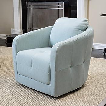 Bernhoft Light Blue Swivel Chair