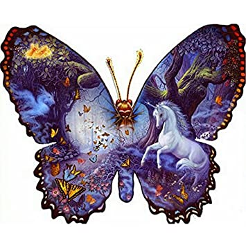DIY Diamond Painting Cross Stitch Animal Brown Horse Feather Rubik 5D Pictures of Crystal Embroidery Mosaic Kits 30x30cm(12x12') Baijie