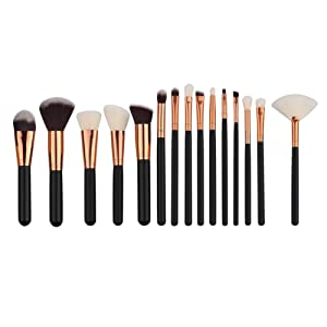 Makeup Brush, Hatop 15Pcs Mini Cosmetic Eyebrow Eyeshadow Brush Makeup Brush Sets Kits Tools