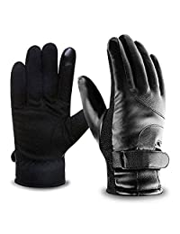 Touch Screen Gloves | Coral Velvet - Mifanstech Winter Outdoor Sprots Recreation Unisex Super Warm Gloves for Smartphones, Tablets, Smart watch, Kiosk & ATM (One Size Fit All - Black)
