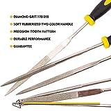 JinFeng Diamond Needle File Set(6 pcs 170 Grit Precision Steel File) Hand Metal Tools