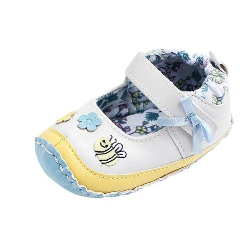 Miyanuby Chaussure Bebe Fille Dessin Animé Doux Semelle En