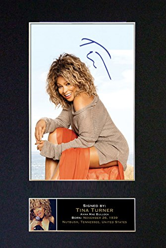 #245 Tina Turner Signed Autograph Photo Reproduction Print A4 Rare Perfect Birthday (297 x 210mm) (Not Framed) ()