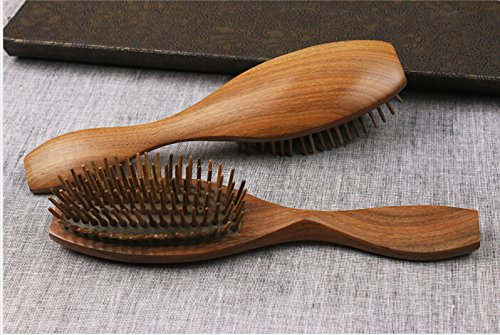 100% Handmade Premium Quality Natural Green Sandalwood Comb Massage Comb Pocket Comb with Natural Wood Aromatic Smell 004