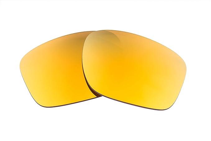 c15ff441fd4 LenzFlip Replacement Lenses for Oakley Sliver Sunglass - Brown Polarized w   24K Gold Mirror Lenses