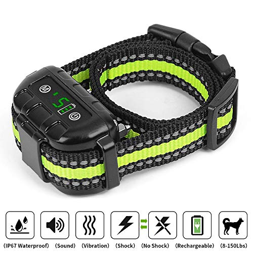 Dog Training Collar Rechargeable and Waterproof Remote Dog Shock Collar with Beep Vibration and Shock Electric Collar Dogs (TY1)