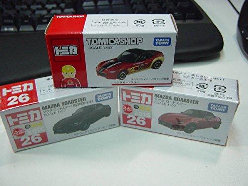 3台トミカ No.26 マツダ ロードスター 初回+通常・新車シールショップオリジナルの商品画像