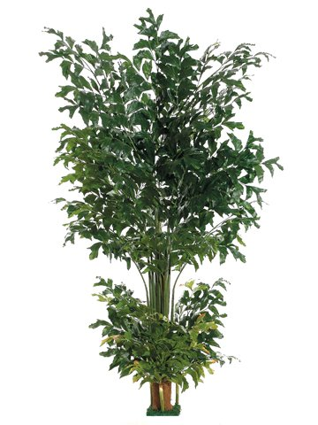 8' Fishtail Palm Tree w/1002 Lvs. Square Base Green (Pack of 2)
