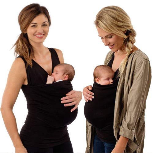 Loalirando Camiseta de Canguro Mujer Fular Portabeb/és Lactancia sin Mangas Camisas Padre//Madre para Beb/é