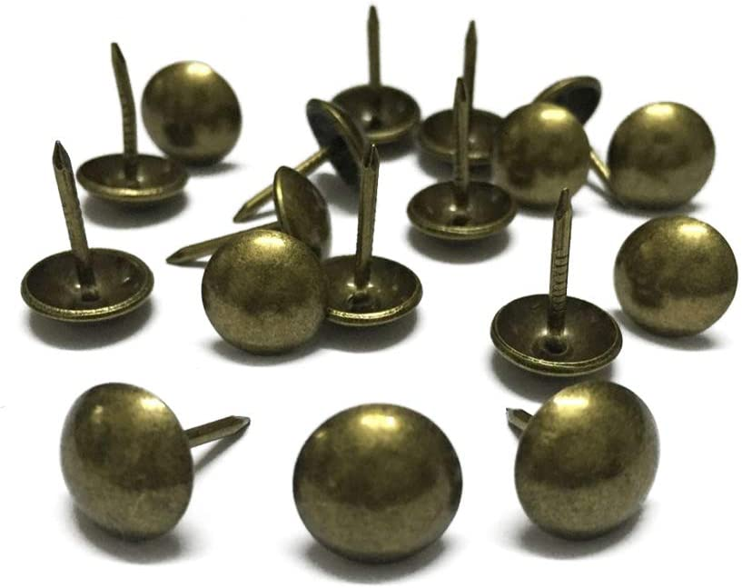 Clavos Tapiceria Tachuelas Vintage para Decorativo Muebles DAZISEN 10-200 Piezas Chincheta Tapiceria 11 x 17mm//0.43 x 0.66//Bronce//200 Piezas Sof/á