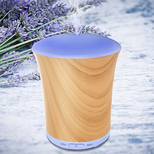 Aromatherapy Diffusers For Essential Oils 200ml Essential Oil Diffuser Neloodony Cool Mist Humidifiers With 8 Color LED Lights, Auto Shut-off and Adjustable Mist Mode For Home Kid Bedroom 51KSIyrsZFL