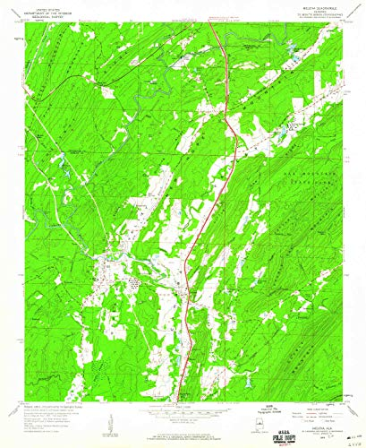 YellowMaps Helena AL topo map, 1:24000 Scale, 7.5 X 7.5 Minute, Historical, 1959, Updated 1960, 26.8 x 22 in - Paper ()