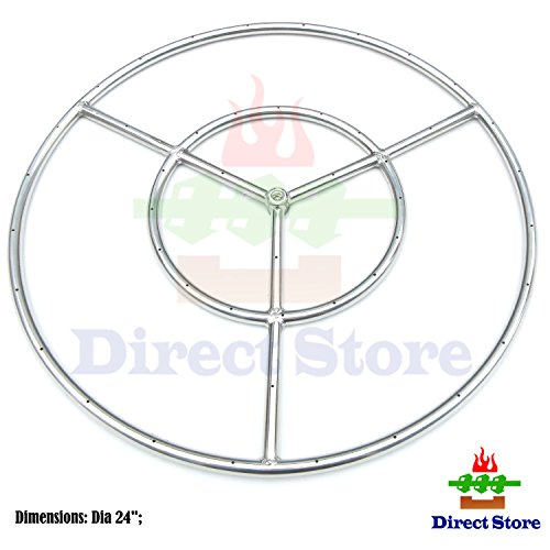 Direct store Parts DR104 Stainless Steel Fire Pit Burner, 24-Inch dia, SS #304