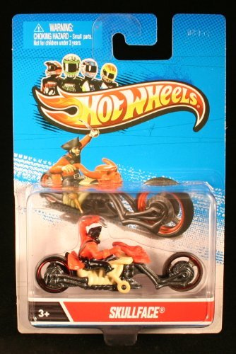 SKULLFACE MOTORCYCLE & RIDER Hot Wheels 1:64 Scale 2012 Die-Cast Vehicle