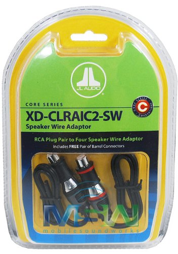 JL AUDIO XD-CLRAIC2-SW RCA to SPEAKER WIRE PLUGS