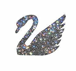 Car Bumper Rhinestone Swan Faces Left Sticker