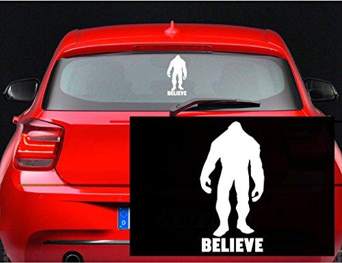 Believe Sasquatch Bigfoot Sticker inches