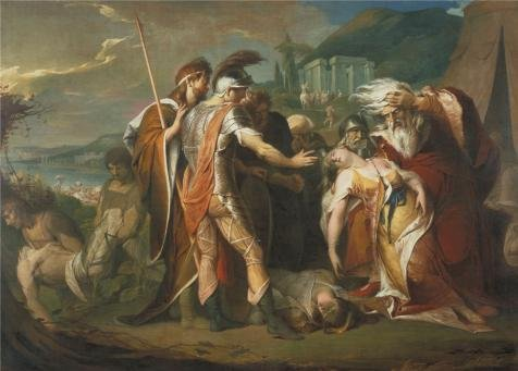 Oil Painting 'James Barry - King Lear Weeping Over The Dead Body Of Cordelia,1786-1788' 10 x 14 inch