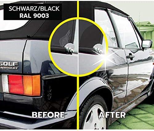 Rae Reparaturset Für Verdeck Aus Kunststoff Für Auto Cabrio Jeep Schwarz Auto