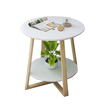 Amazon.de: Nordic Einfache Couchtisch Massivholz Runde Kleine ...