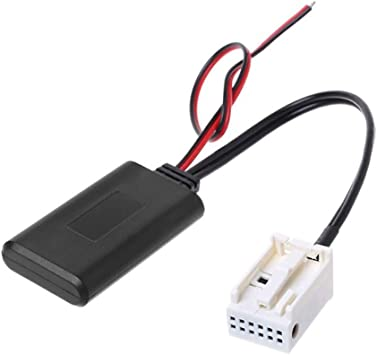 Flychengi Kfz Bluetooth Modul Kabelloser Radio Stereo Empfänger Adapter 12 Pin Aux In Kabel Adapter Kompatibel Mit Autoradio Mp3 Player Pad Telefon Wma Wav Flac Für E60 04 10 Auto