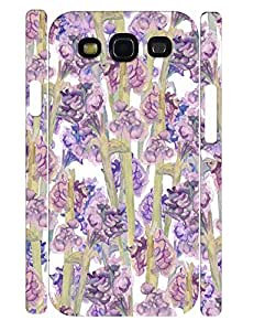 Cute Ink Flower Individualized Eco TPU Phone Protective Back Cover for Samsung Galaxy S3 I9300