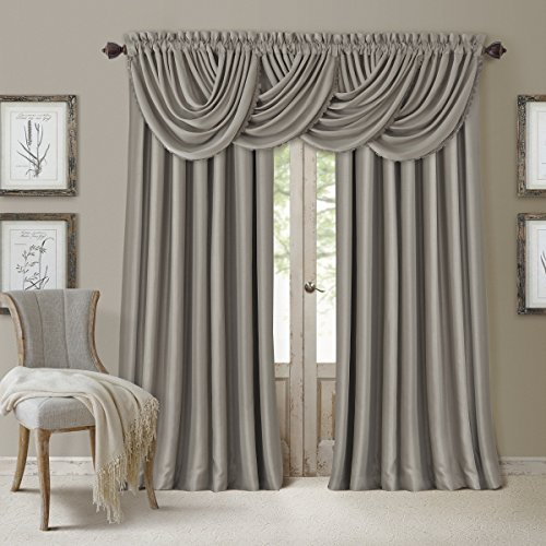 Elrene Home Fashions 026865854008 Blackout Energy Efficient Room Darkening Rod Pocket Window Curtain Drape Regal Solid Panel, 52