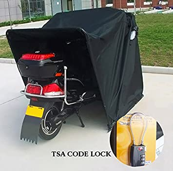 Quictent Heavy Duty Motorcycle Shelter Shed Tourer Cover Storage Garage Tent with TSA Code Lock u0026 & Amazon.com: Quictent Heavy Duty Motorcycle Shelter Shed Tourer ...