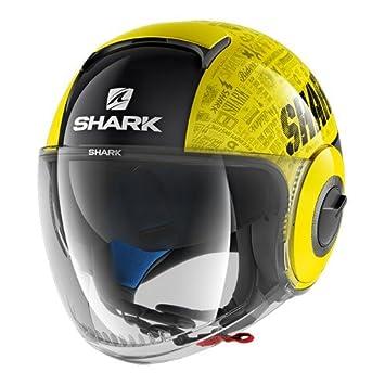 Shark Casque Moto NANO TRIBUTE RM YKA Noir//Jaune Taille L 2658/_26743
