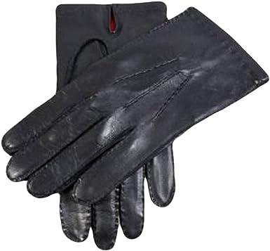 Black Dents Mens Skyfall Leather Gloves