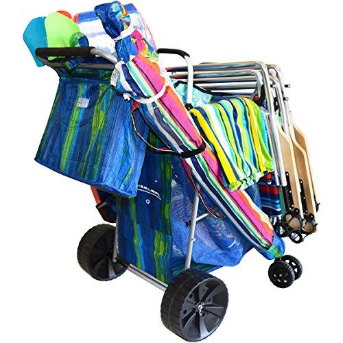 Wide Extra Wheels (RIO BEACH Ultra Wonder Wheeler Beach Cart w/Wide Wheels & Bag - WWC8 - Green/Blue)