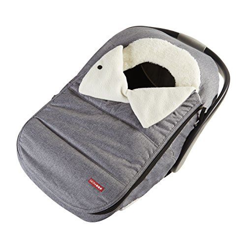 Skip Hop Stroll & Go  Infant and Toddler Automotive Car Seat Cover Bunting Accessories, Universal Fit, Heather Grey