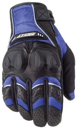 Joe Rocket 1056-1204 Men's Phoenix 4.0 Motorcycle Riding Gloves (Blue/Black/Silver, Large)