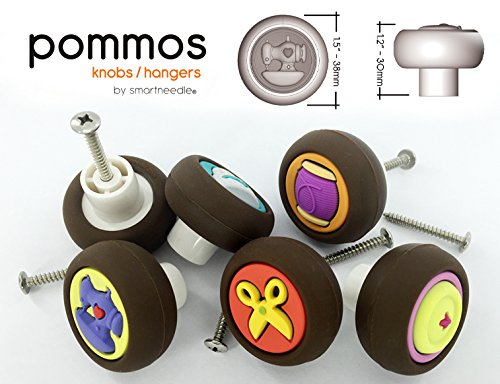 Sewing Knobs by Smartneedle. Pommos for Sewing room furni...