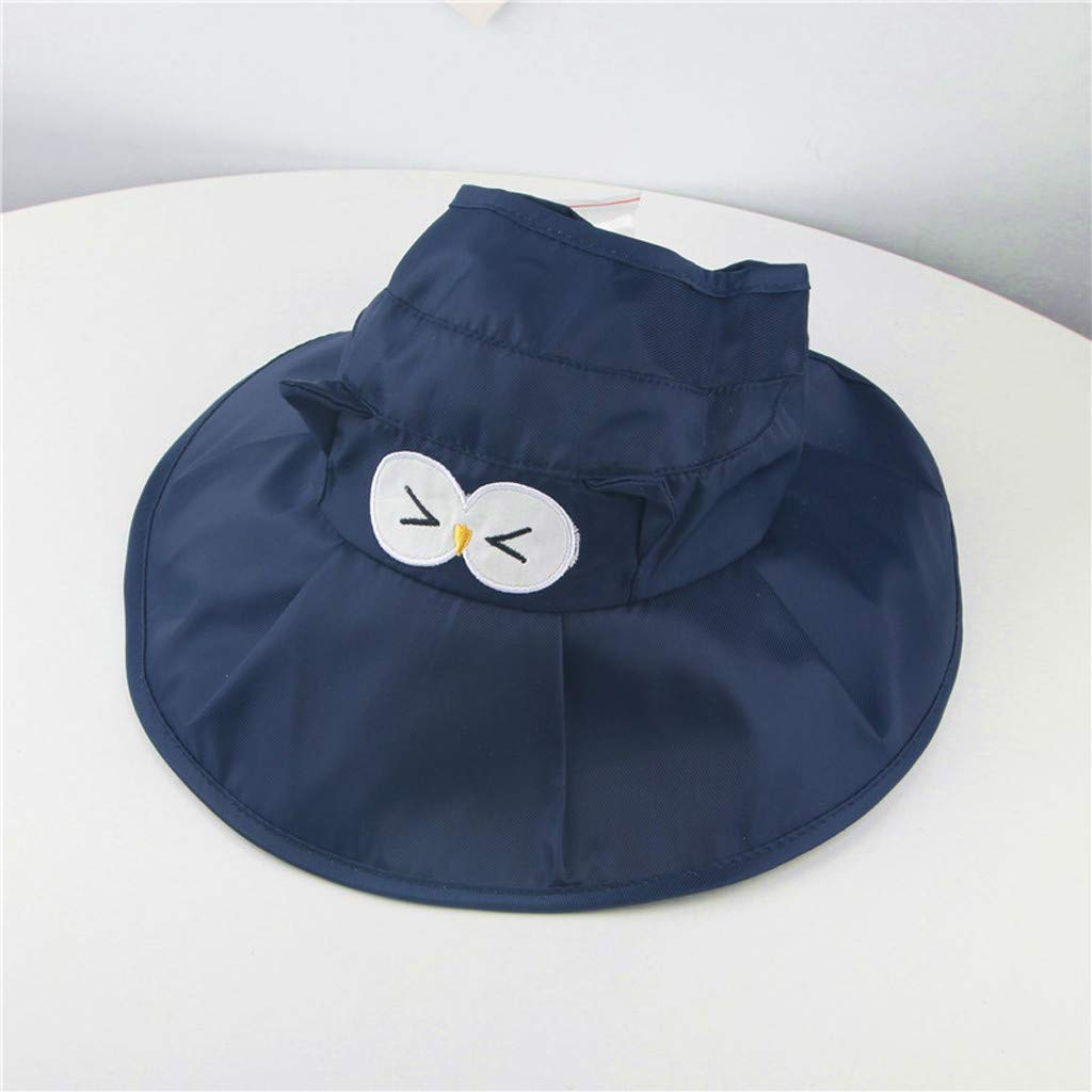 Toddler Baby Kids Girls Boys Candy Solid Ribbons Breathable Hat Bucket Cap Meidexian888 Baby Candy Cartoon Breathable Hat Navy