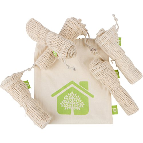 Reusable Produce Bags - Organic Cotton Mesh - 5 Pack ...