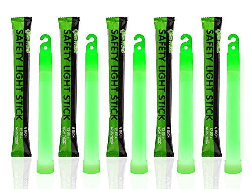 30 Industrial Grade Glow Sticks, 6' Ultra Bright Emergency Light Sticks with +12 Hours Duration (Green)