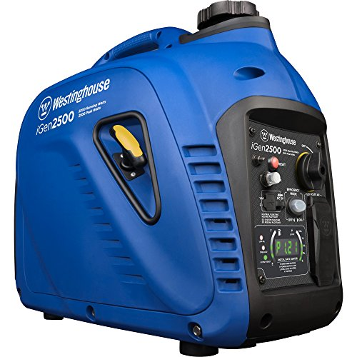 Westinghouse iGen2500 Portable Inverter Generator - 2200 Rated Watts & 2500 Peak Watts - Gas Powered - CARB Compliant from Westinghouse