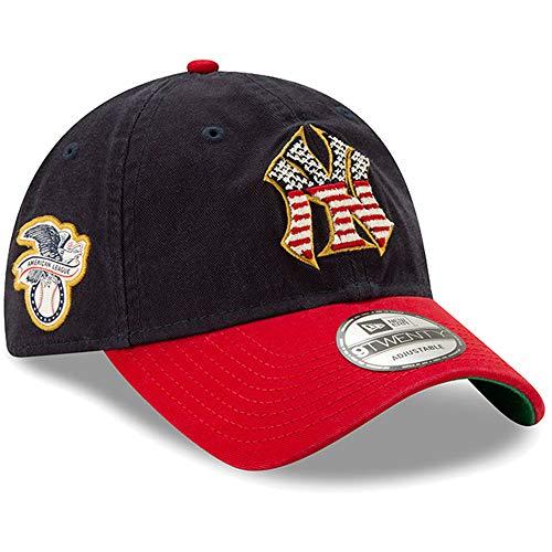 New Era Men's New York Yankees Navy/Red 2019 Stars & Stripes 4th of July 9TWENTY Adjustable Hat ()