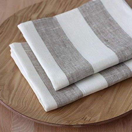 Lot de 2 Lin Torchons-Plat-Cuisine Main-Organique 100/% couleur...