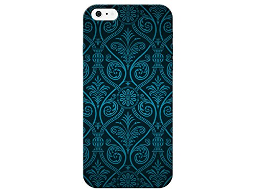 Blue Damask Pattern For Iphone 6 Case by iCandy Products Back Phone Cover