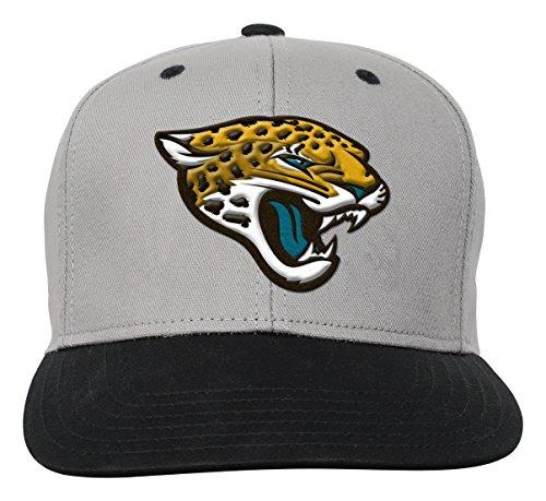 NFL Youth Boys Team Flatbrim Snapback Hat-Black-1 Size, Jacksonville Jaguars