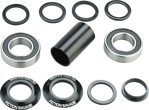 Fiction Savage Mid Bottom Bracket 19mm Black by Fiction