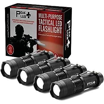 Peakplus Lfx100 Mini Flashlights 4 Pack Edc Flashlight