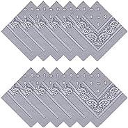 MissShorthair Bandanas Face Scarf for Men & Women - Bandana Headband Handkerchiefs Scarf for Dust, Sports,