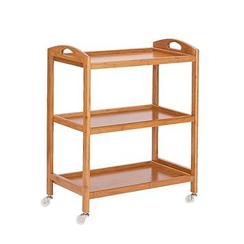 cocina Cubiertos de mesa, Hogar puede moverse Carrito de ruedas coche de comedor Estantería Estantería