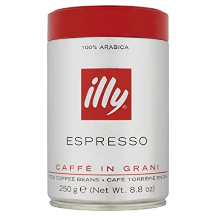 Amazon.com: Illy Espresso Caffe in Grani Coffee Beans (250g ...