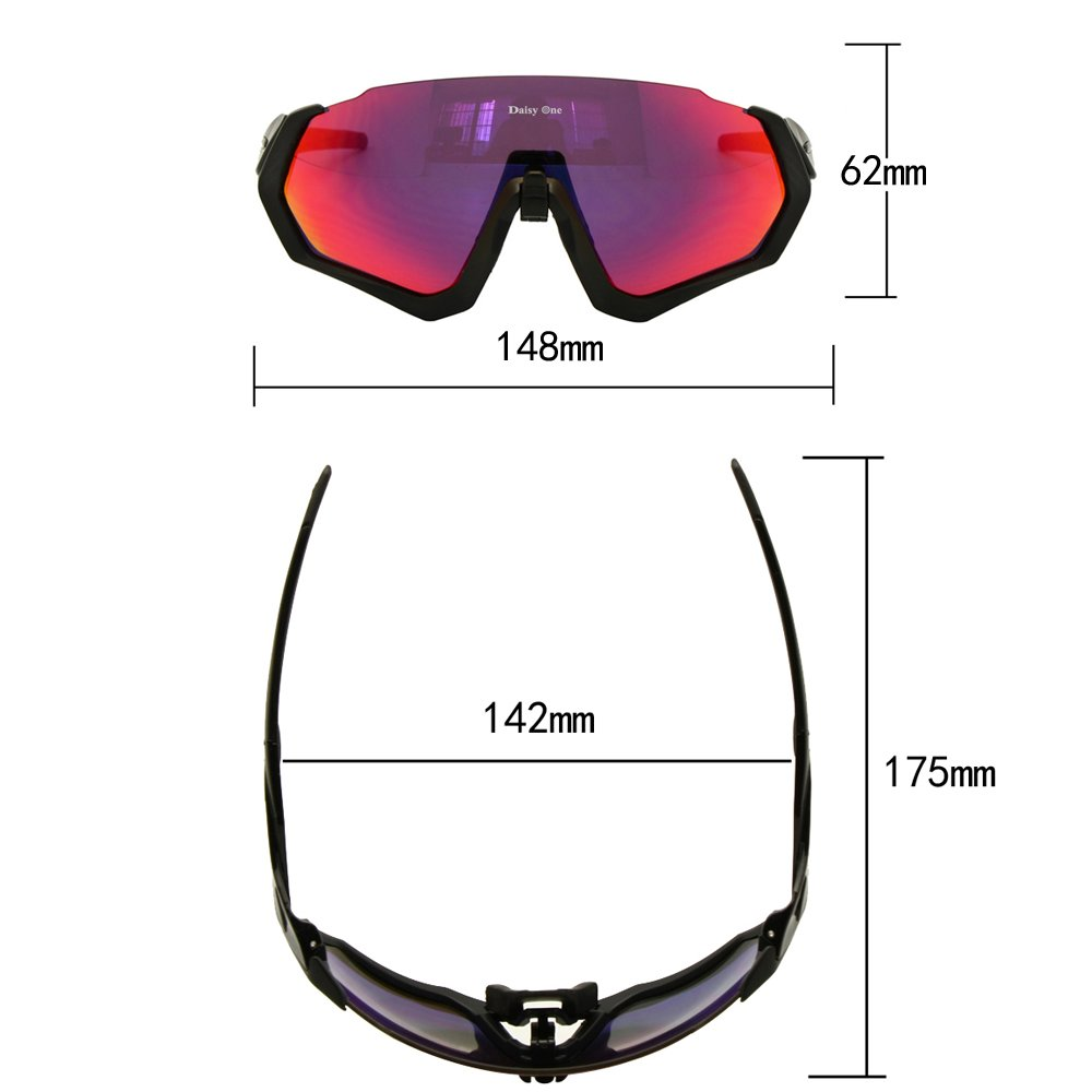 Amazon.com: Polarized Cycling Goggles 3 Lens Kit UV400 ...
