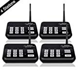 Wireless Intercom System (2017 Version), TTekeyTBox 1800 Feet Long Range 10 Channel Digital FM Wireless Intercom System for Home and Office Walkie Talkie System for Outdoor Activity (4 Stations Black)
