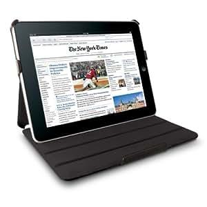 Technocel Leather Flip Book Case/Folio for Apple iPad (1st Generation) (Black)
